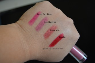 Nars Lip pencil swatches